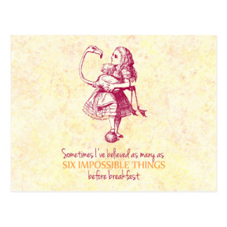 Alice in Wonderland Post Card