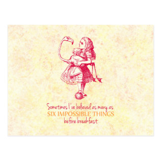 Alice in Wonderland Postcard