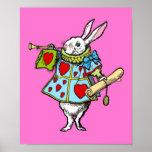 Alice in Wonderland Print Rabbit Pink Heart