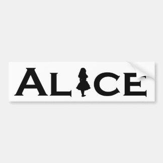 Alice in Wonderland Purple Black Bumper Sticker
