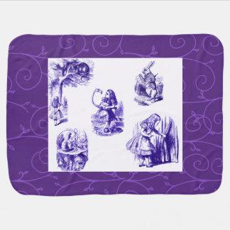 Alice in Wonderland Purple Vines Baby Blanket