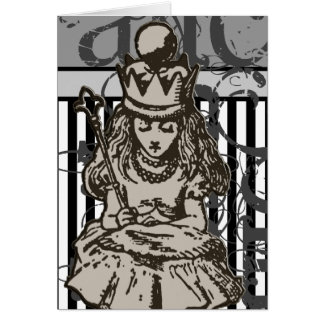 Alice In Wonderland Queen Alice Grunge Card