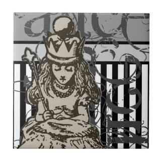 Alice In Wonderland Queen Alice Grunge Tile