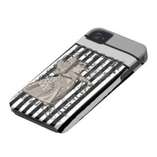Alice In Wonderland Queen of Hearts Grunge iPhone 4 Cases
