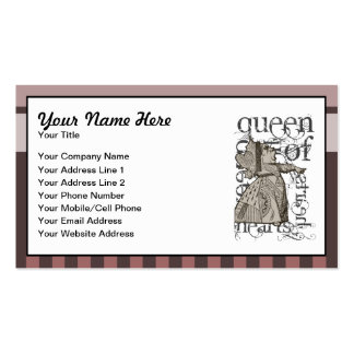 Alice In Wonderland Queen of Hearts Grunge Pink Business Card Templates
