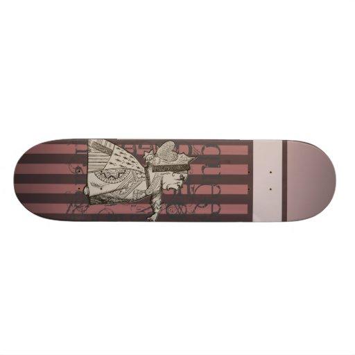 Alice In Wonderland Queen of Hearts Grunge (Pink) Skateboard