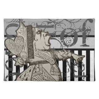 Alice In Wonderland Queen of Hearts Grunge Placemat