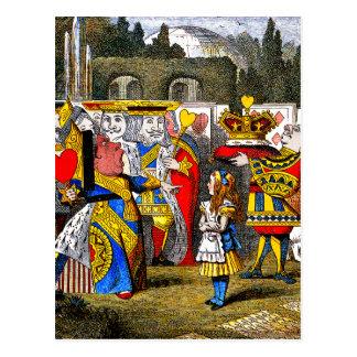 Alice in Wonderland - Queen of Hearts - Tenniel Postcard