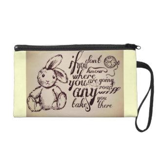 Alice in Wonderland Quote Wristlet