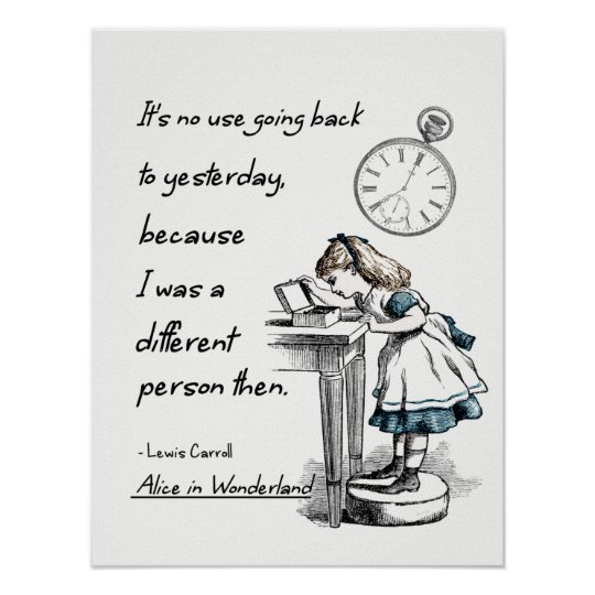 Alice in Wonderland Quotes Poster