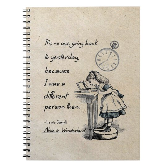 Alice in Wonderland Quotes Spiral Notebook