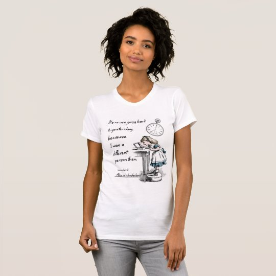 Alice in Wonderland Quotes T-Shirt