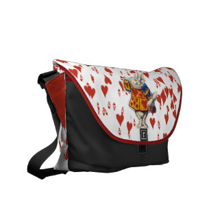 Alice in Wonderland Rabbit Hearts Messenger Bag