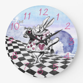 Alice in Wonderland Rabbit Herald Wallclock