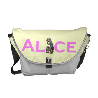 Alice in Wonderland Rackham Caterpillar Courier Bags