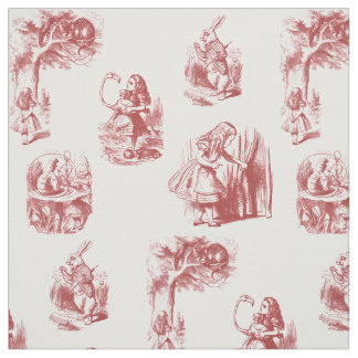 Alice in Wonderland Red Fabric