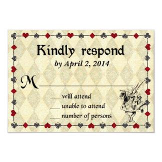 Alice in Wonderland Response Card - Wedding
