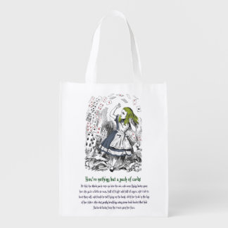 Alice in Wonderland Reusable Grocery Bag