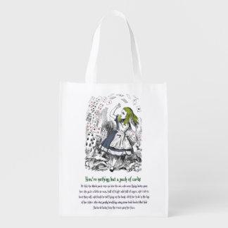Alice in Wonderland Reusable Grocery Bag