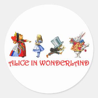 ALICE IN WONDERLAND ROUND STICKER