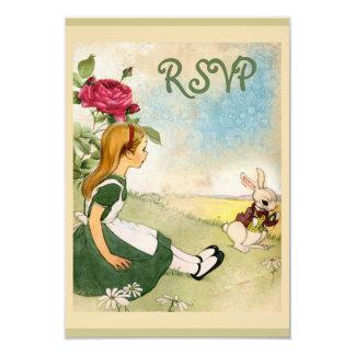 Alice in Wonderland RSVP 9 Cm X 13 Cm Invitation Card