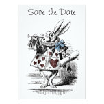 Alice in Wonderland Save the Date Invitation Card