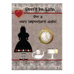 Alice in Wonderland Save the Date Wedding Postcard