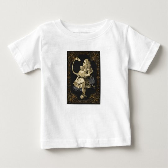 Alice in Wonderland Shirt Alice and Flamingo