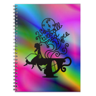 Alice in Wonderland. Silhouette illustration Note Books