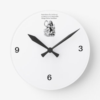 "Alice in Wonderland, ""Six Impossible Things"" Round Clock"