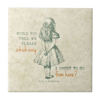 Alice in Wonderland Small Square Tile