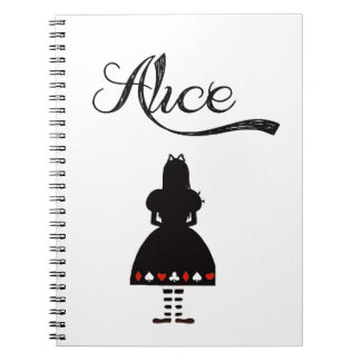 Alice In Wonderland Spiral Note Book
