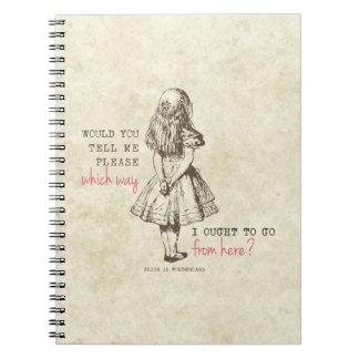 Alice in Wonderland Spiral Note Books