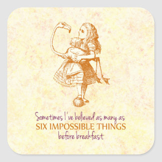 Alice in Wonderland Square Sticker