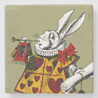 Alice in Wonderland Stone Beverage Coaster