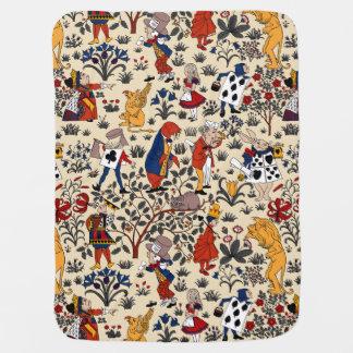 Alice in Wonderland Swaddle Blankets