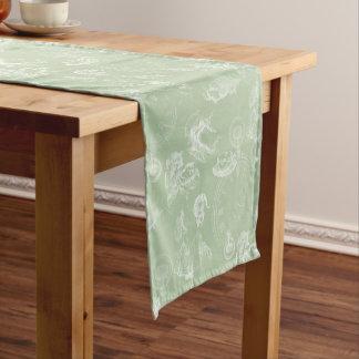 Alice in Wonderland Tea Green Table Runner