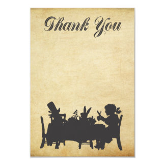 Alice in Wonderland Tea Party Thank You Card 9 Cm X 13 Cm Invitation Card