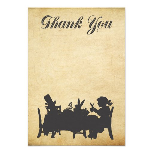 Alice in Wonderland Tea Party Thank You Card