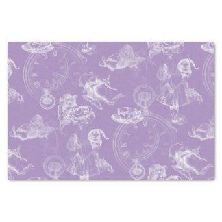Alice in Wonderland Tea Time Lavender Tissue Paper