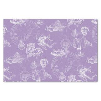 "Alice in Wonderland Tea Time Lavender Tissue Paper 10"" X 15"" Tissue Paper"