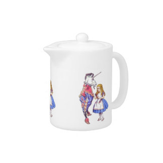 Alice in Wonderland Teapot. Alice with the Unicorn