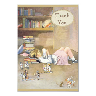 Alice in Wonderland Thank You Baby Shower 9 Cm X 13 Cm Invitation Card