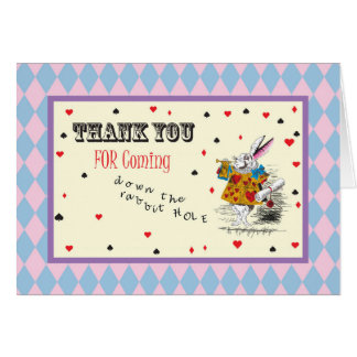 Alice in Wonderland - Thank You Card