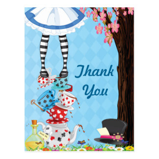 Alice in Wonderland Thank You Post Cards