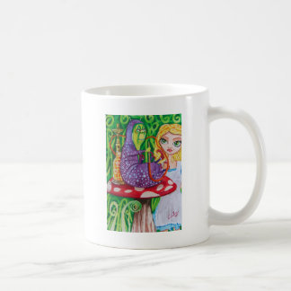 ALICE IN WONDERLAND the caterpillar Basic White Mug