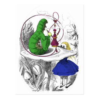 Alice in Wonderland - The Caterpillar Postcard