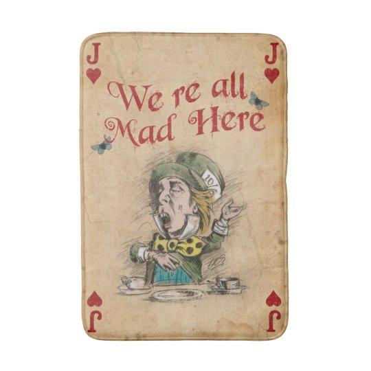 Alice in Wonderland, The Mad Hatter, Bath Mat