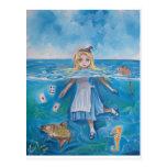 Alice in Wonderland the pool of tears by G Bruce Postcard