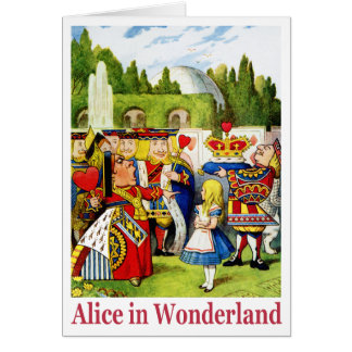 ALICE IN WONDERLAND & THE QUEEN OF HEARTS GREETING CARD